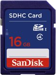 SanDisk SDHC kaart 16 GB