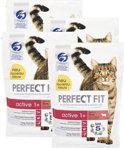 Perfect Fit Active - Rund - Kattenvoer - 4 x 1.4 kg