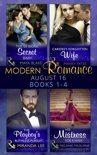 Modern Romance August 2016 Books 1-4: The Di Sione Secret Baby / Carides's Forgotten Wife / The Playboy's Ruthless Pursuit / His Mistress for a Week (Mills & Boon e-Book Collections) (The Billionaire's Legacy, Book 2)