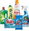 Huishoudmiddelen Pakket - 6-delig - Cif + Glorix + Sun + Andy + Robijn