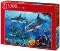 Jumbo Puzzel - Dolfijnen Op Jacht Naar De Schat - 1000 stukjes