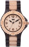 WeWOOD kale-black-beige - Horloge - Zwart - 41 mm
