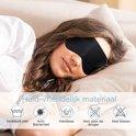 Zijden Slaapmasker vrouwen en mannen - Oogmasker - Nachtmasker - Sleepwell - Verstelbare Reismasker - zijdezacht - Meditatie - unisex - Zwart