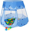 Kindertent speelhuis speeltent ballenbak ballen blauw 400951