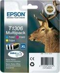 Epson T1306 - Inktcartridge / Cyaan / Magenta / Geel