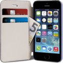 PURO iPhone 5/5S Leather Folio Case - Blauw with Cardslots