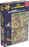 Jan van Haasteren - Safari & Storm - Puzzel - 2 x 1000 Stukjes