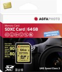 AgfaPhoto SDXC kaart UHS I 64GB Professional High Speed U3 90/80