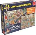 Jan van Haasteren Fijne Feestdagen 2in1 - 2x 1000 stukjes