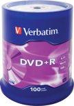 Verbatim 43551 DVD+R Matt Silver Schijven - 100 Stuks / Spindel