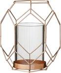 Bloomingville Graphic - Waxinelichthouder - Koper - h17.2 cm