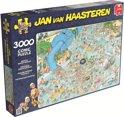Jan van Haasteren Tropisch Zwemparadijs - Puzzel 3000 stukjes