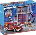 Playmobil Brandweerkazerne met bluswagen - 5027