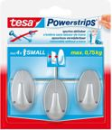 Tesa powerstrips small ovaal mat-chroom