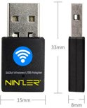 Ninzer Wireless mini USB Wifi netwerk adapter/dongle