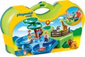 Playmobil 123 Meeneem dierentuin met waterpartij - 6792