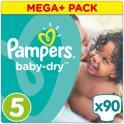 Pampers Baby Dry Mega Plus Box Maat 5 - 90 stuks