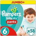 Pampers Baby-Dry Pants Luierbroekjes - Maat 6 (Extra Large) 15+ kg - 58 Stuks - Luiers