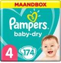 Pampers Baby Dry - Maat 4 Maandbox 174 Luiers