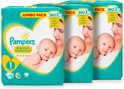 Pampers Premium Protection Maat 1 - Jumbo Box Newborn 3x72 luiers