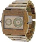 WeWOOD Jupiter Army - Horloge - Groen - 46 mm