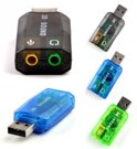 3.5mm to Usb sound card adapter Audio 5.1