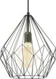 EGLO Vintage Carlton - Hanglamp - 1 Lichts - Zwart