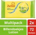Zwitsal Billendoekjes Lotion - 2 x 72 stuks - Baby - Voordeelverpakking
