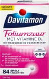 Davitamon foliumzuur + vitamine D - 84 tabletten - Voedingssupplement
