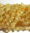 Natuurstenen kralen, Citrien chip-kralen van ca. 5-8mm. Verkocht per streng van 45 cm.