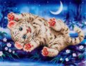 Diamond Dotz ® painting Baby Tiger (36x28cm)