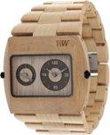 WeWOOD Jupiter Beige - Horloge - Crème - 46 mm