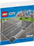 LEGO City T-kruising en Bocht - 7281