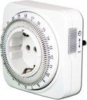 EcoSavers Tijdschakelklok Analoog - Timer / tijdschakel klok 24 uurs en instelbaar per tijdsinterval van 15 minuten - Schakelt apparaat automatisch aan en uit op de vastgestelde tijdstippen