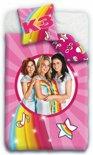 K3 Hanne, Marthe en Klaasje - Dekbedovertrek - Eenpersoons - 140 x 200 cm - roze
