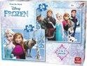 Disney 2 in 1 Puzzel - 24 en 50 stukjes Prinsessen - King - Kinderpuzzel