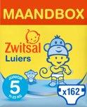 Zwitsal luiers Maandbox - Maat 5 (Junior)  Luiers -162 stuks