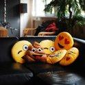 Emoji Laughing Tears - Sierkussen - 35x35 cm - Geel