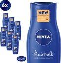 NIVEA Hairmilk Herstellende Shampoo voor Dik Haar - 6 x 250 ml - Voordeelverpakking