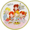 Blond Amsterdam Even Bijkletsen dinerbord Girls - Ø 26 cm