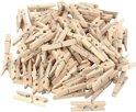 Mini wasknijpers, afm 30x3 mm, berkehout, 100 stuks