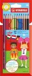 STABILO Color Kleurpotloden - Etui 12 stuks