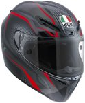 AGV GT Veloce TXT Integraalhelm Black/Gunmetal/Red-S