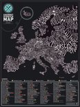 Kras Wereldkaart - Scratch Map Gourmet Europe