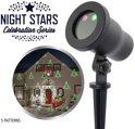 Laser Light - Night Stars 5 Patronen + afstandbediening en aluminium frame