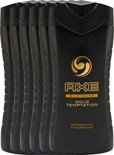 Axe Gold Temptation For Men - 6 x 250  ml - Douche Gel - Voordeelverpakking