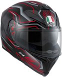 AGV K-5 Deep Integraalhelm Black/White/Red-S
