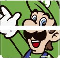 NEW3DS COVERPLATE LUIGI POP 002 EUR