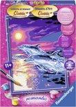 Ravensburger schilderen op nummer Dolfijnen in zonsondergang