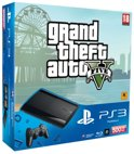 Sony PlayStation 3 Console 500GB Super Slim + 1 Wireless Dualshock 3 Controller + Grand Theft Auto V - Zwart PS3 Bundel